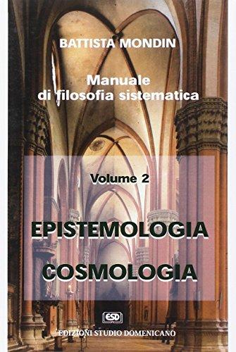 Epistemologia e cosmologia: Mondin, Battista