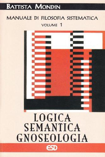 9788870946444: Manuale di filosofia sistematica: 1
