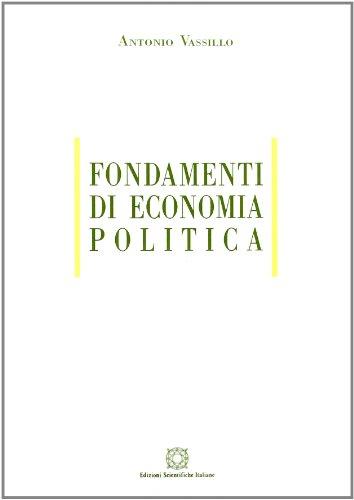 Fondamenti di economia politica Vassillo, Antonio
