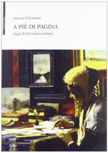 9788871157726: A piè di pagina. Saggi di letteratura italiana (Humanitas)