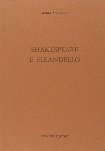 """9788871192154: Shakespeare e Pirandello (Studi e ricerche / Università di Roma """"La Sapienza,"""" Facoltà di lettere e filosofia, Dipartimento di anglistica) (Italian Edition)"""