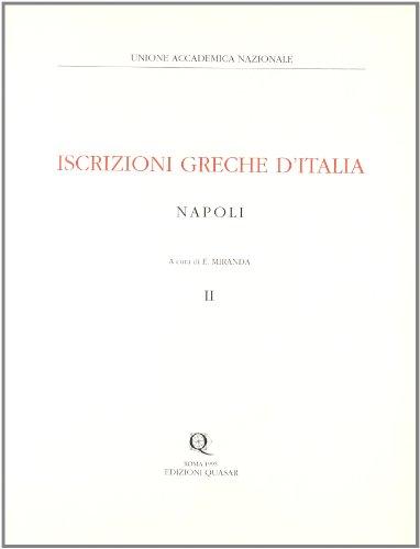 Iscrizioni Greche d'Italia. Napoli. Vol. III: Miranda, E.