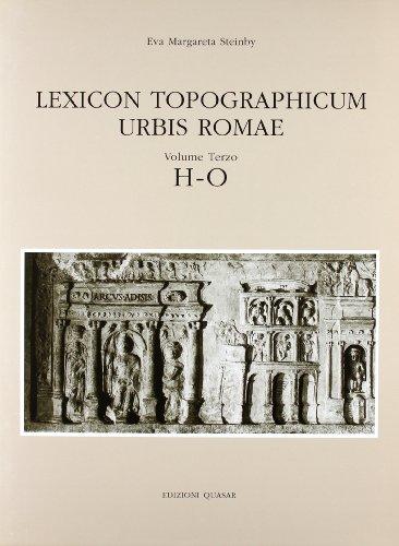 9788871400969: Lexicon Topographicum Urbis Romae