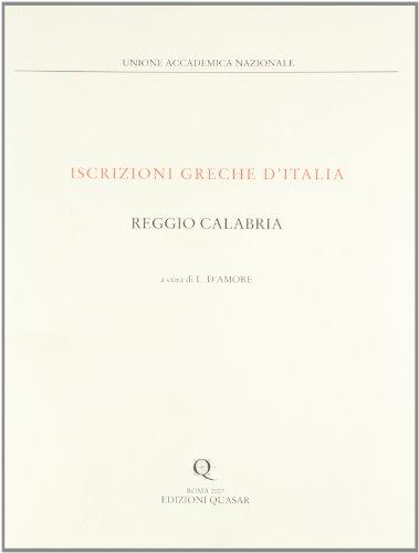 Iscrizioni greche d Italia - Reggio Calabria