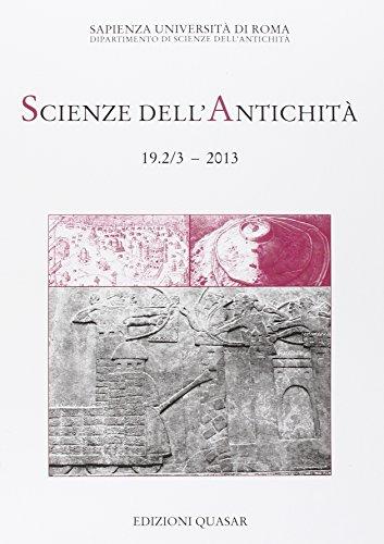 Scienze dell'Antichità 19, fascicoli 2/3 :