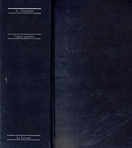 9788871661698: Opera poetica