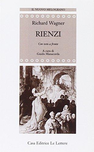 9788871663111: Rienzi: Con testo a fronte (Il nuovo melograno) (German Edition)