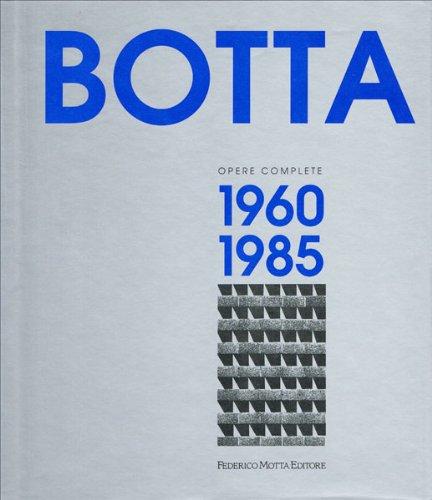9788871790435: Mario Botta. Opere complete (1960-1985). Ediz. illustrata