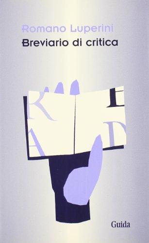 Breviario di critica (8871885325) by Romano Luperini