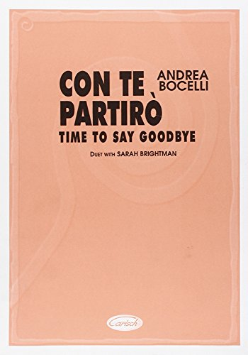 9788872077535: CON TE PARTIRO/TIME SAY GOODBYE(SHEET M)
