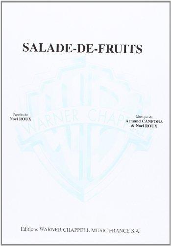 9788872078969: Bourvil Salade-De-Fruits Voice & Piano Book
