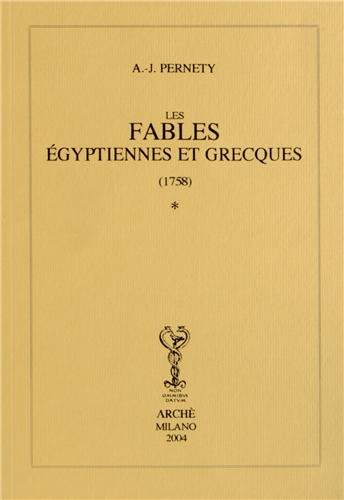 9788872522608: fables égyptiennes et grecques (1758) en deux tomes