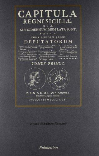 Capitula Regni Siciliae (rist. anast. Palermo, 1741): aa.vv.