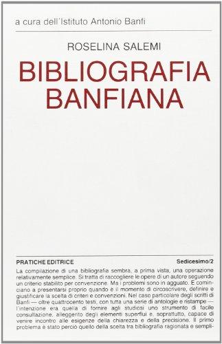 Bibliografia banfiana.: Salemi,Roselina.
