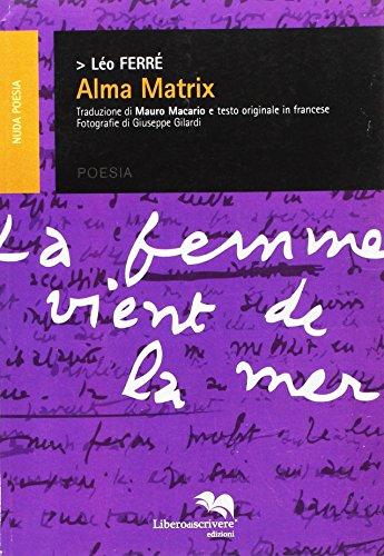 9788873883210: Alma matrix (Nuda poesia)