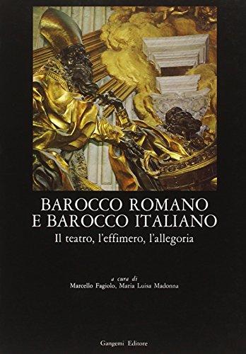 Barocco romano e barocco italiano: il teatro,: Fagiolo Marcello; Madonna