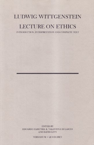 9788874621378: Lecture on ethics (Verbarium)