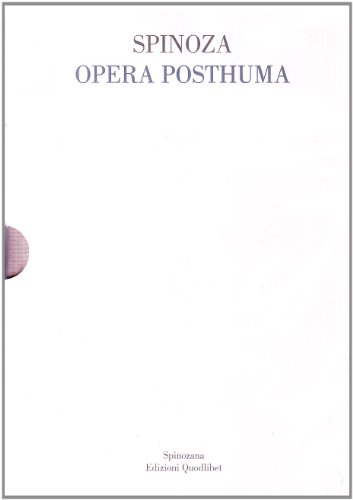9788874621699: Opera posthuma (rist. anast. 1677)