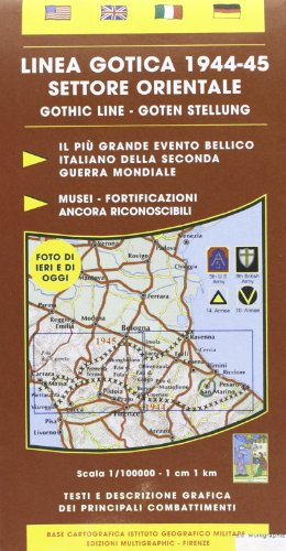 Linea gotica 1944-45. Settore orientale 1:100.000 (Paperback)