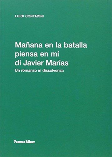 9788874720842: Mañana en la batalla piensa en mí di Javier Marías (Biblioteca di spicilegio moderno)