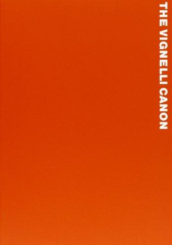9788874900664: Il canone Vignelli. Ediz. illustrata