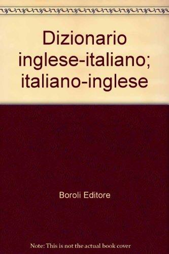 9788874937738: Dizionario inglese-italiano; italiano-inglese