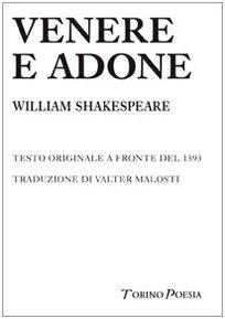 9788875470937: Venere e Adone. Testo inglese a fronte