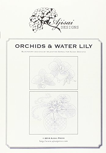 9788875473754: Orchids & water lily. A blackwork designs (Ajisai Blackwork)