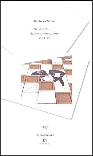 9788875704544: Giulio Paolini : Essere O Non Essere, 1994-95