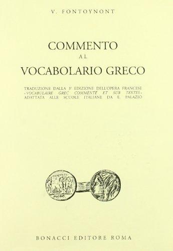9788875730062: Commento al vocabolario greco