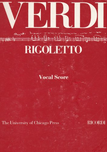 9788875920043: Rigoletto. Melodramma in 3 atti. Riduzione per canto e pianoforte. Ediz. italiana e inglese (prefazione in inglese)