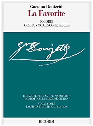 9788875926670: La Favorita: Vocal Score