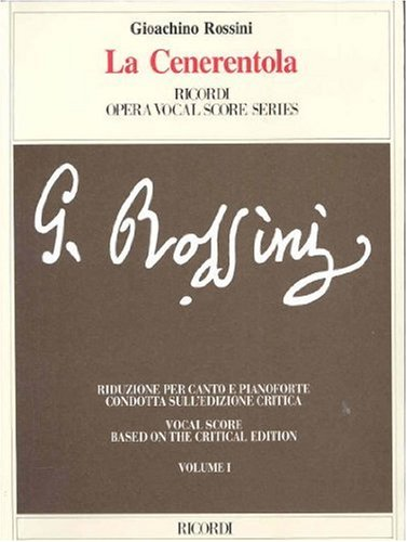 9788875927011: La Cenerentola: Vocal Score (2 Volume Set)