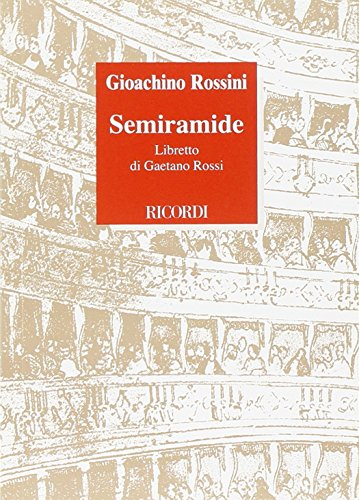 9788875927134: Semiramide Opéra