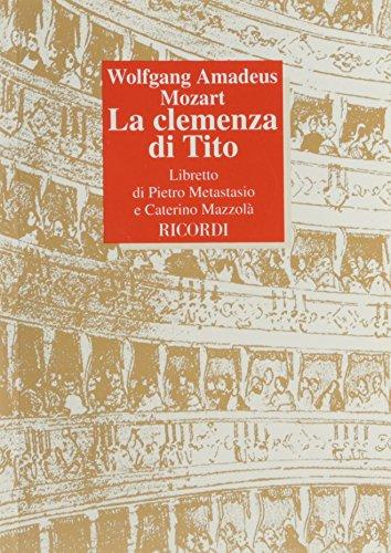 9788875927943: LA CLEMENZA DI TITO LIBRETTO ITALIAN