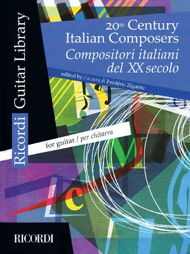 20TH CENTURY ITALIAN COMPOSERS FOR GUITAR Format: