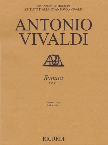9788875929169: Sonata, RV 810: Violin and Basso Continuo (Edizione Critica Delle Opere Di/Critical Edition Of The Works Of Antonio Vivaldi)