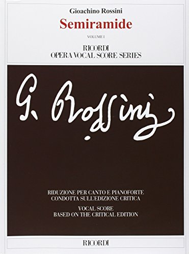 9788875929817: Semiramide. Melodramma tragico in due atti. Ediz. italiana e inglese