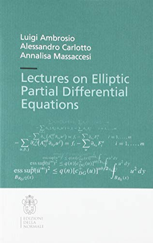 9788876426506: Lectures on elliptic partial differential equations