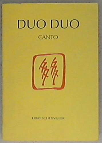 9788876442483: Canto. Testo cinese a fronte (Il sigillo. Piccola biblioteca cinese)