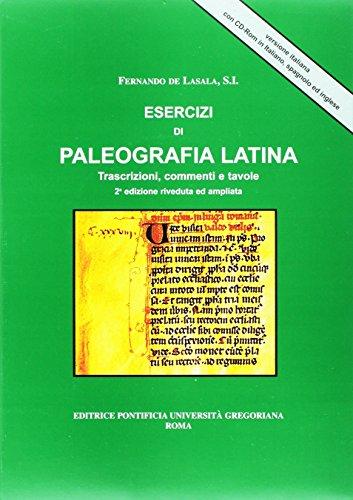 9788876528101: Esercizi Di Paleografia Latina: Trascrizioni Commenti E Tavole (Fuori Collana) (Italian Edition)