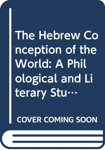 9788876530395: Hebrew Conception of the World