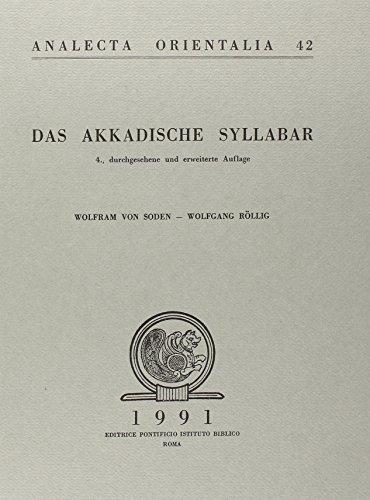 9788876532573: Das akkadiscke Syllabar