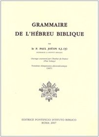 9788876534980: Grammaire De L'Hebreu Biblique