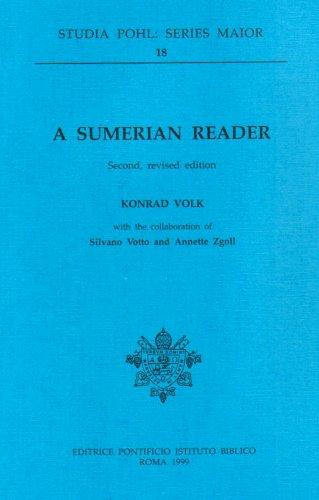 9788876536106: A Sumerian Reader (Studia Pohl: Series Maior)