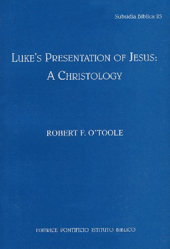 9788876536250: Luke's Presentation of Jesus: A Cristology (Subsidia Biblica)