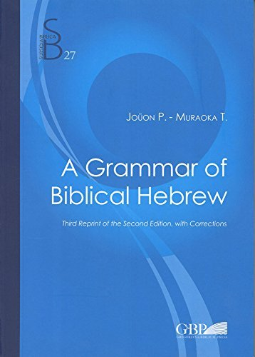 9788876536298: A Grammar of Biblical Hebrew: Second Edition [Lingua inglese]