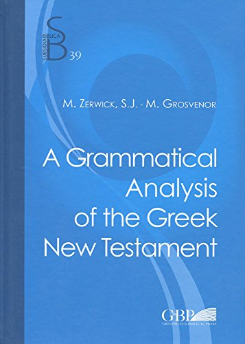 9788876536519: Grammatical Analysis of the Greek New Testament (Subsidia Biblica)