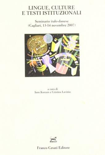 Lingue , culture e testi istituzionali.: Seminario Italo Olandese: