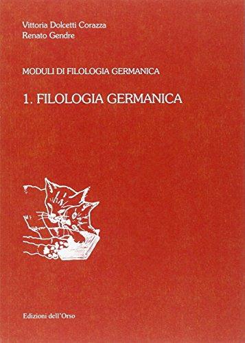 9788876944925: Filologia germanica: 1
